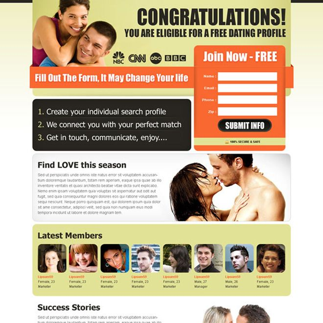 Online dating kräver endast blogs
